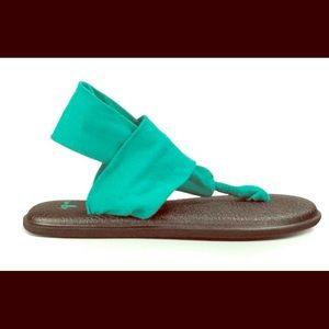 Sanuk Sling Yoga Sandals in Teal
